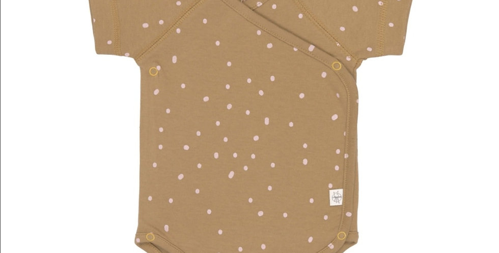 Body manches courtes-cannelle/pois roses - LASSIG