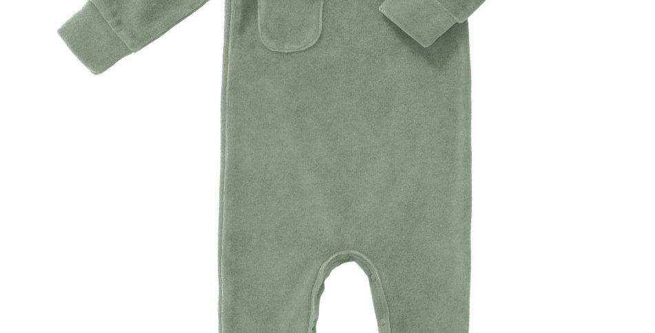Pyjama en velours Vert-Fresk