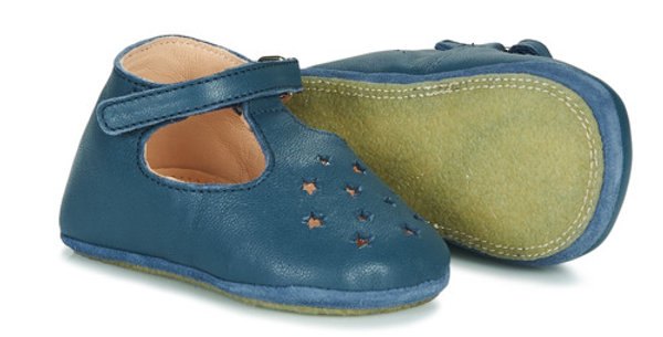 "Chaussons bleu marine ""Mou patin"" - Easy Peasy"