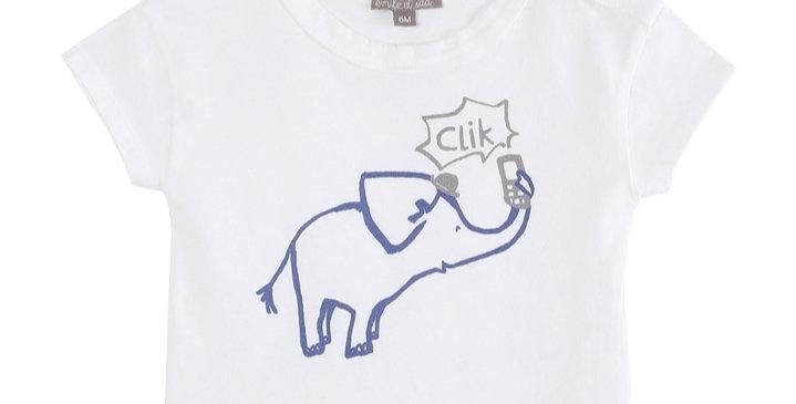 "T-shirt ""Éléphant""- Émile et Ida"