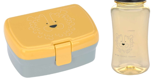 "Set boîte à goûter/gourde ""Lion""- Trixie"