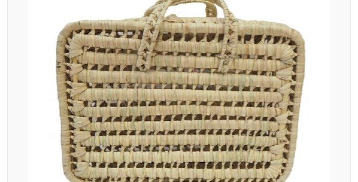 Valise de rangement grand modèle en feuille de palmier - Kikadu