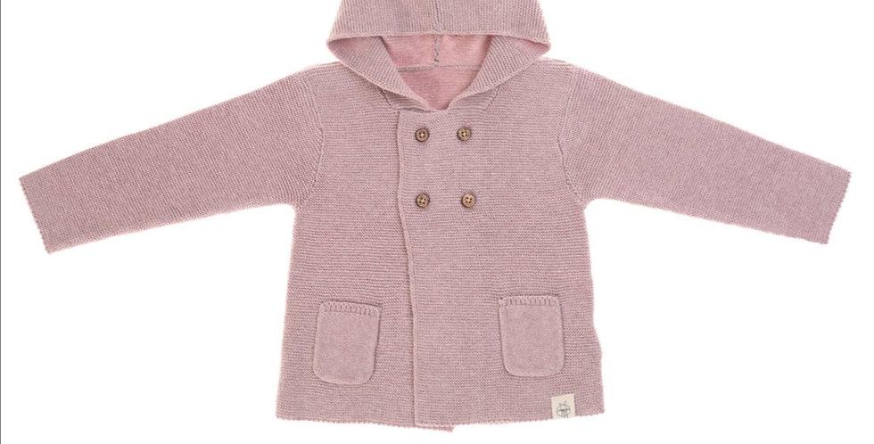Gilet tricoté rose poudré - Lassig