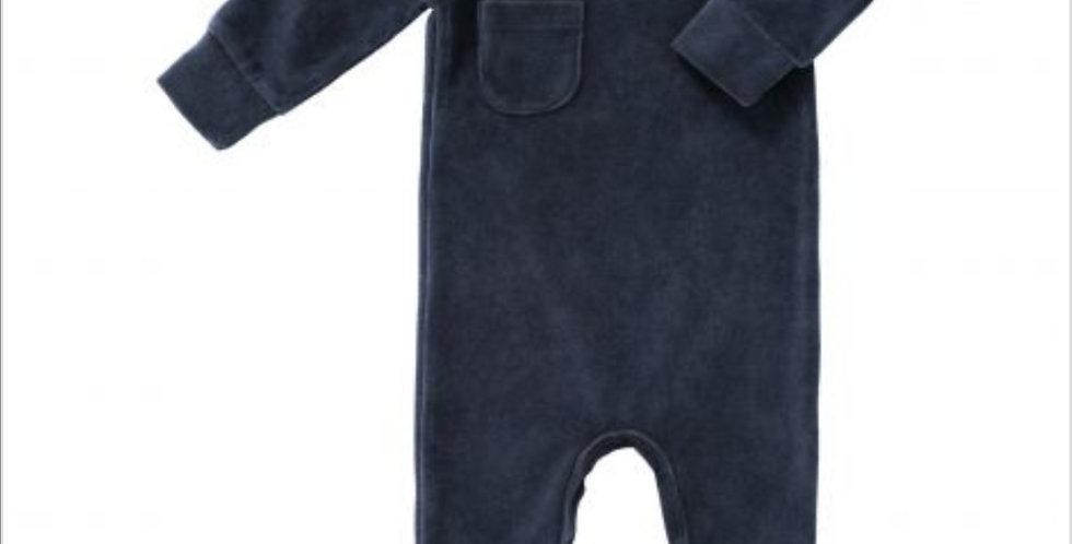 Pyjama en velours Bleu Marine-Fresk
