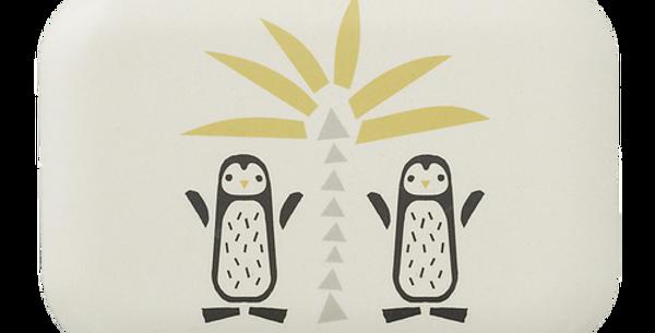 "Boîte à goûter en Bambou ""Pingouin"""