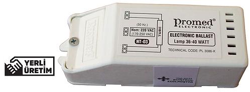 220 V.AC 18-36/40 W Floresan ve (Max.21 W) UV Dezenfeksiyon Ampul Balastı