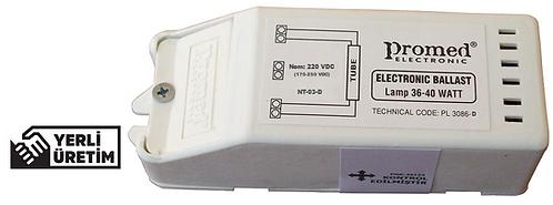 220 V.DC 18-36/40 W Floresan ve (Max.21 W) UV Dezenfeksiyon Ampul Balastı