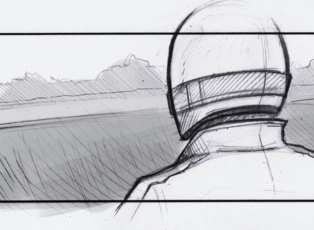 storyboards for McLaren at Academy