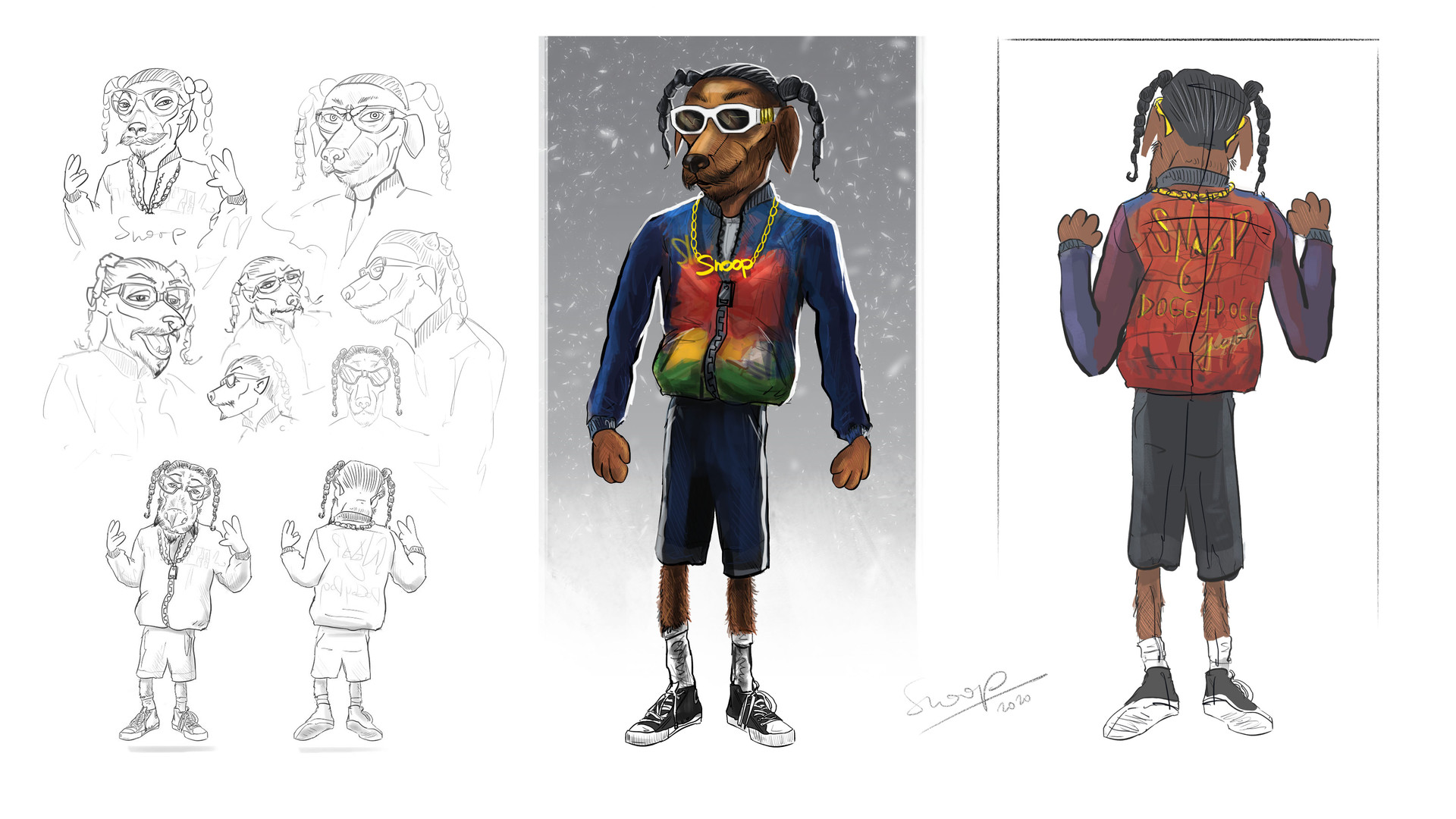 Puppet design for Snoop Dogg x Just Eat 'Doggy Dogg Christmas' | dir. Chloe Hughes & Emil Nava | OB Management / Ammolite / McCann London