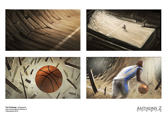 The Challenge spec storyboard basketball