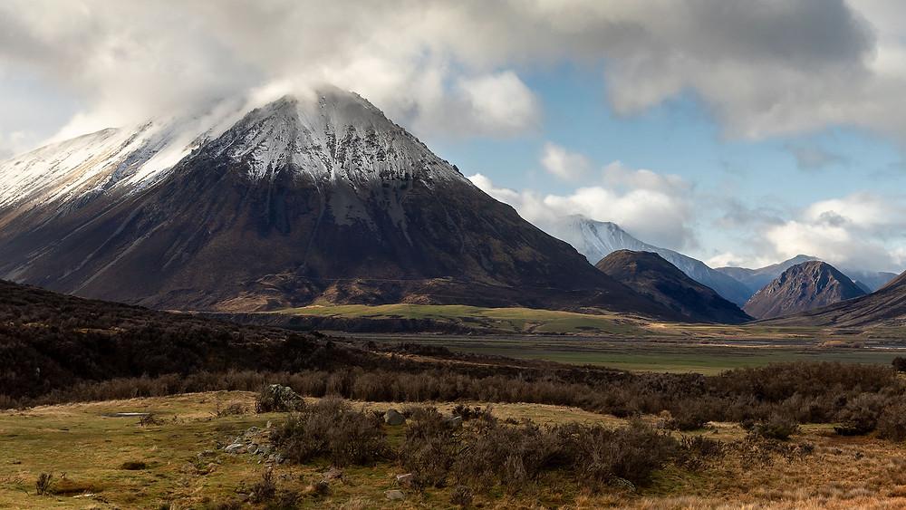 Mount Ida on the Southern side of the Craigieburn range in Canterbury, New Zealand