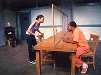 Charlie James & Verlene debating a tissue issue a few days before Charlie's execution.
