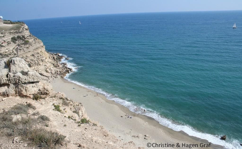 plage de la falaise leucate
