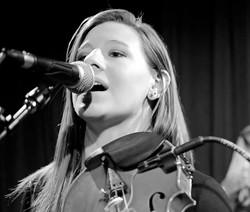 Hannah K Watson on violin and vocals