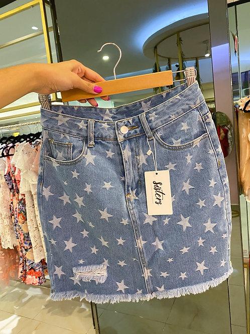 Denim Stars Skirt ✨