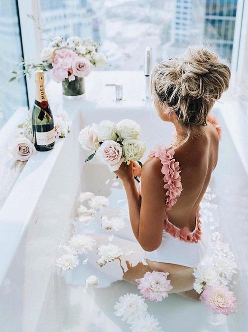 3D Pink Flowers Swimsuit