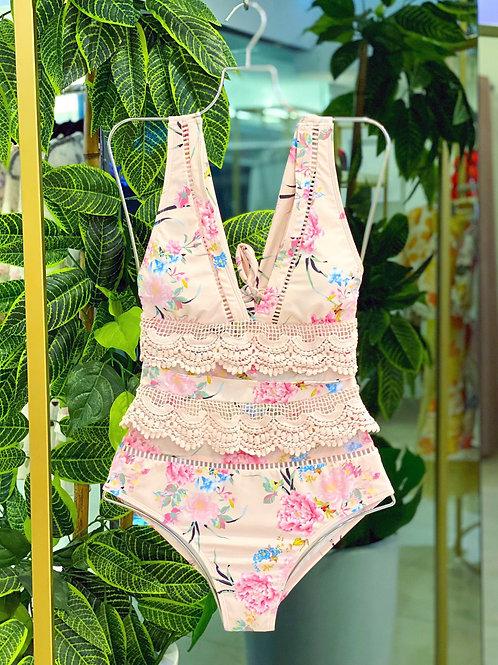 Rose Lace Swimsuit