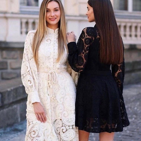 Cream Short and Long Dress