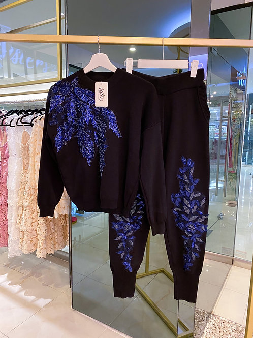 Blue Luxe Pant Suit