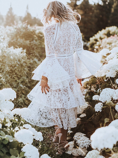 White Lace Luxe Dress