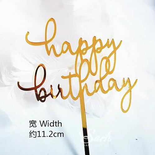 """""""Happy Birthday"""" Topper"""