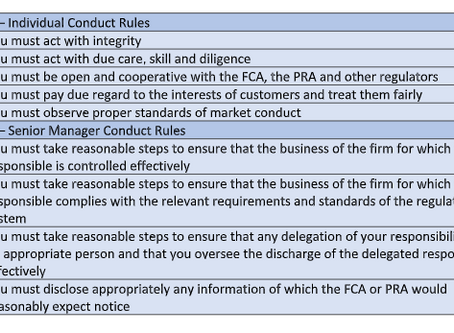 What are the FCA Conduct Rules?
