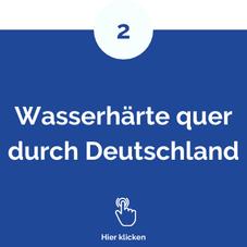 Wasserhärte quer durch Deutschland