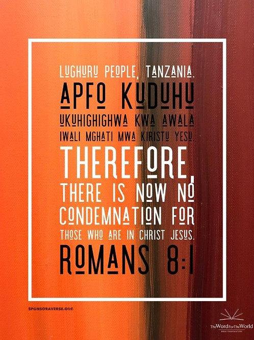 Sponsor this Verse - Romans 8:1- Design 2