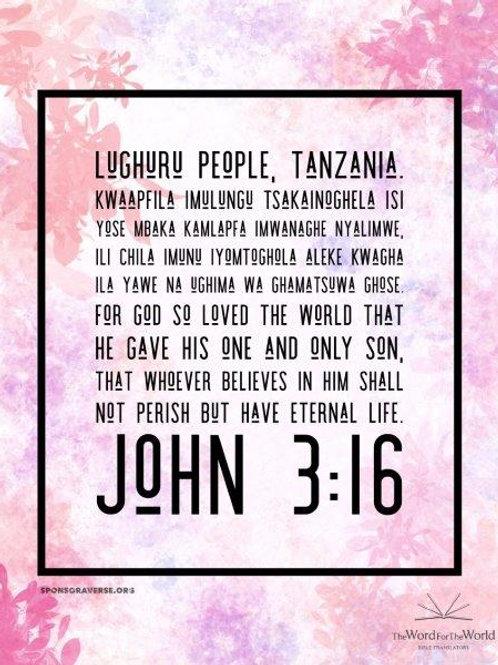 Sponsor this Verse - John 3:16
