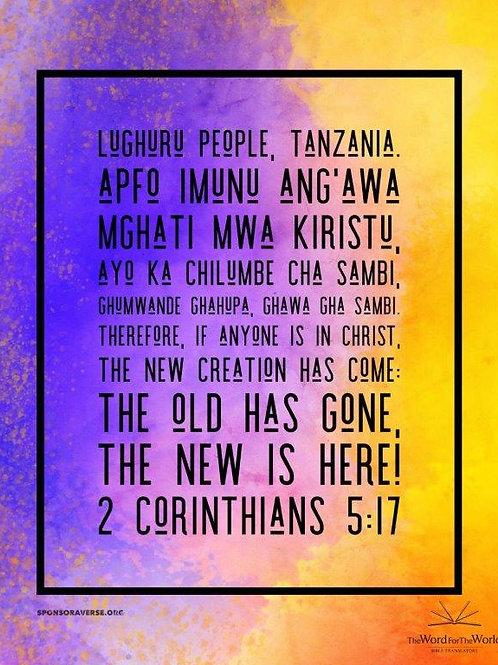 Sponsor this Verse - 2 Corinthians 5:17