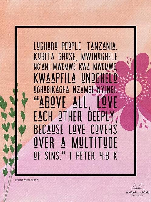 Sponsor this Verse - 1 Peter 4:8