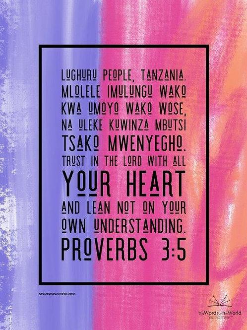 Sponsor this verse - Proverbs 3:5 - Design3