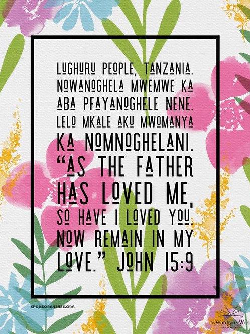 Sponsor this Verse - John 15:9