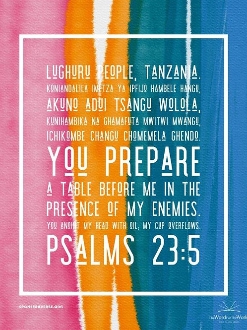 Sponsor this Verse - Psalm 23:5 - Design 2