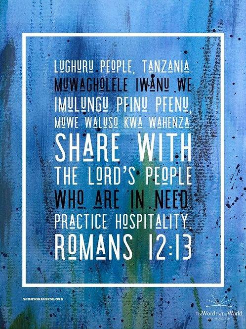 Sponsor this Verse - Romans 12:13 - Design 2
