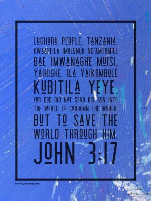 Sponsor this Verse - John 3:17