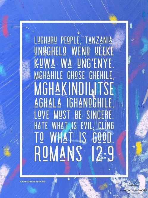 Sponsor this Verse - Romans 12:9