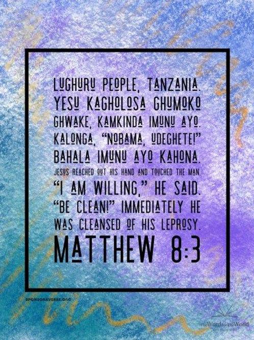 Sponsor this Verse - Matthew 8:3