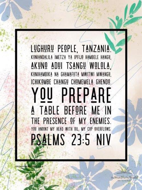 Sponsor this Verse - Psalm 23:5