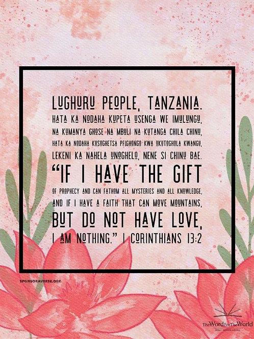 Sponsor this Verse - 1 Corinthians 13:2 - Design1
