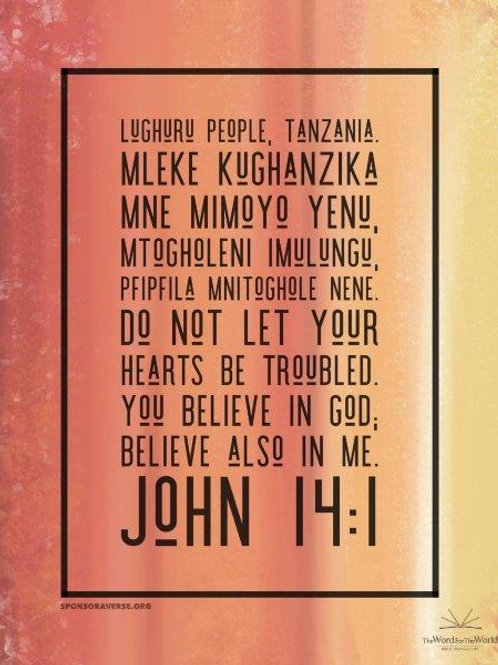 Sponsor this Verse - John 14:1