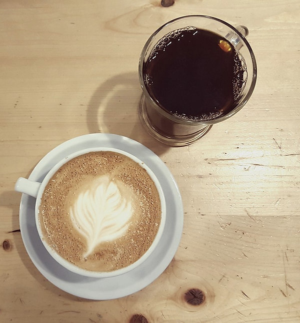 Freshe Brewed Coffee and Latte