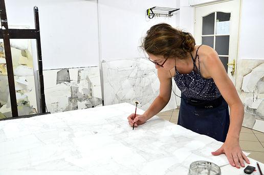 Dorota Jedrusik in her Studio