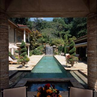 Modern Tuscan Pool & Landscaping
