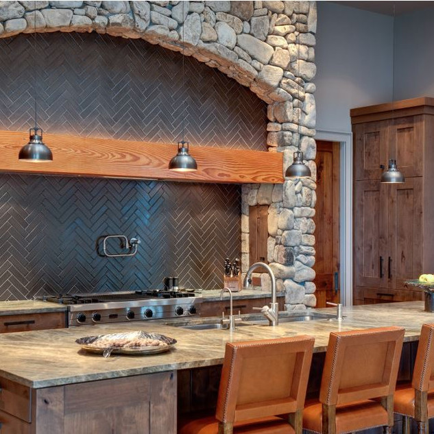 Modern Rustic Kitchen  - Moon Brothers,