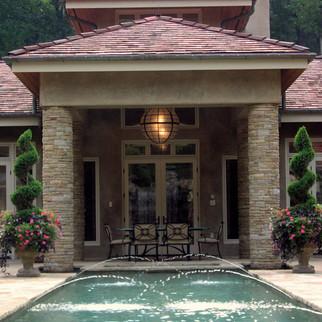 Modern Tuscan Entrance