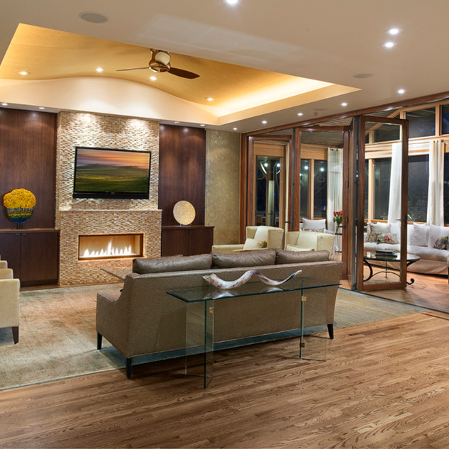 Traditional Modern Open Living Room Mode