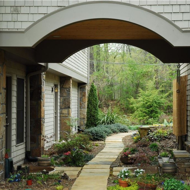 Dreamy Arched Walkway Modern Rustic Appl