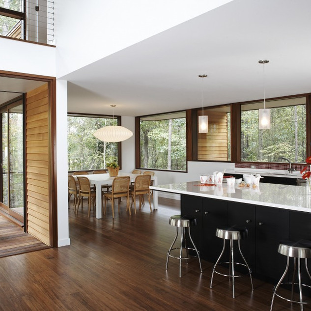 Modern Rustic Treehouse Open Kitchen - M