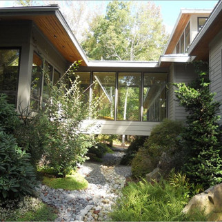 Rustic Walkway with Natural Light Modern